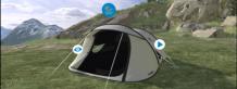 Decathlon, tente, virtuelle, virtualité 3D