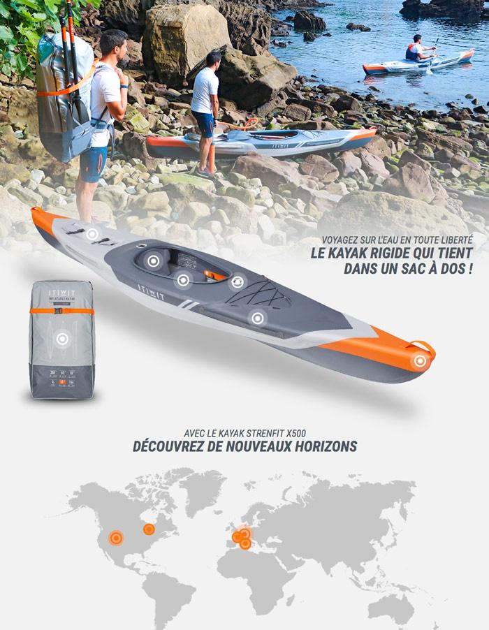 Itiwit Kayak gonflable Strenfit X500