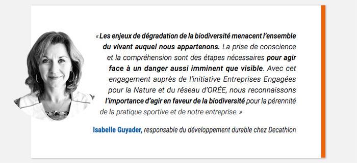 Decathlon engagement biodiversité