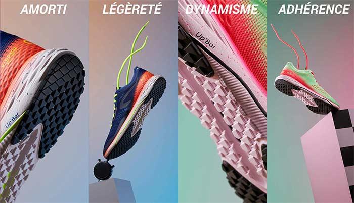 Amorti / Légèreté / Dynamisme / Adhérence