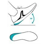 Geometrie spécifique talon Newfeel chaussures marche sportive 2018