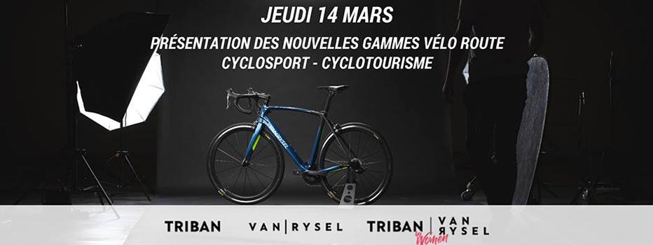 VAN RYSEL et Triban lancement gamme vélos