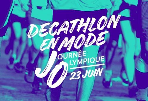 Decathlon,Décathlon, sport, journee olympique, olympisme, CNOSF, 23 juin, olympique, paralympique, sport pour tous