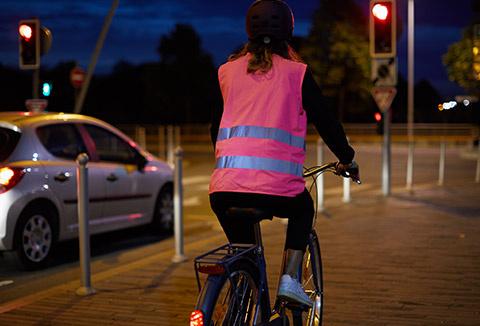 Visibilité et Sécurité maximale à vélo, même en semi-obscurité